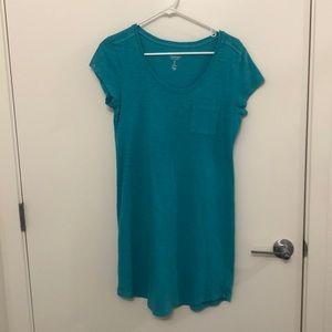 Teal T-Shirt Dress